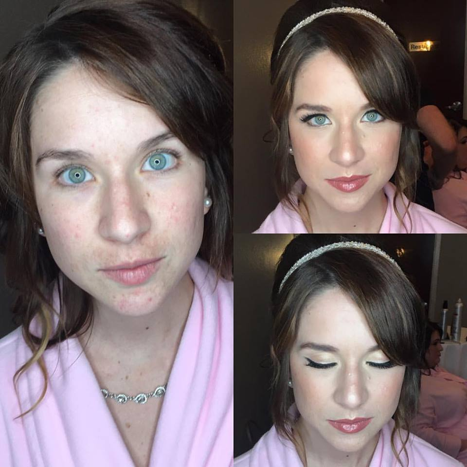 Before and After Wedding Makeup South Florida