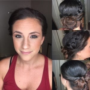Braided Wedding Hair with Bun