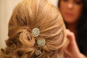 Blonde Bridal Hair and Makeup