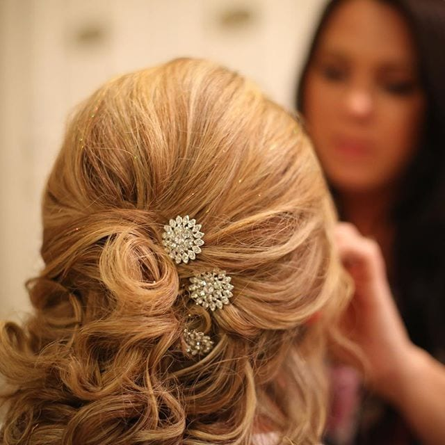 Bridal hair and makeup blonde