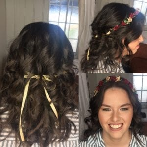 Wedding hair and Makeup- Hair with curls