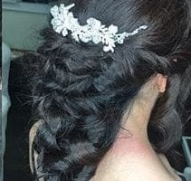 Black hair braid down hair style
