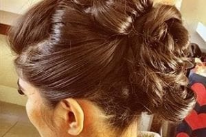 Brunette Wedding Styling Updo