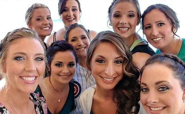 Group Shot - bridal makeup done by Faces by April