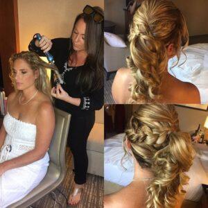 Blonde Wedding hair Style with braid