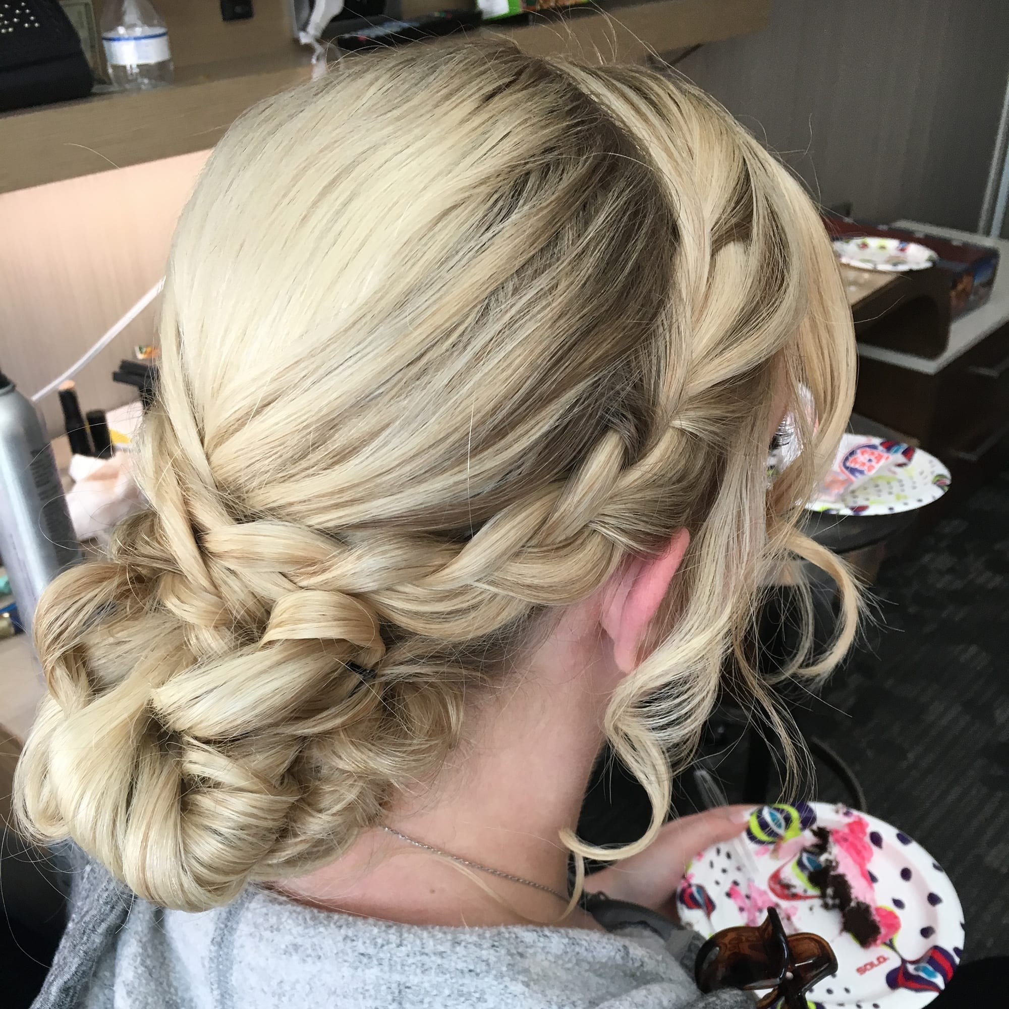 Blonde Braided Bun