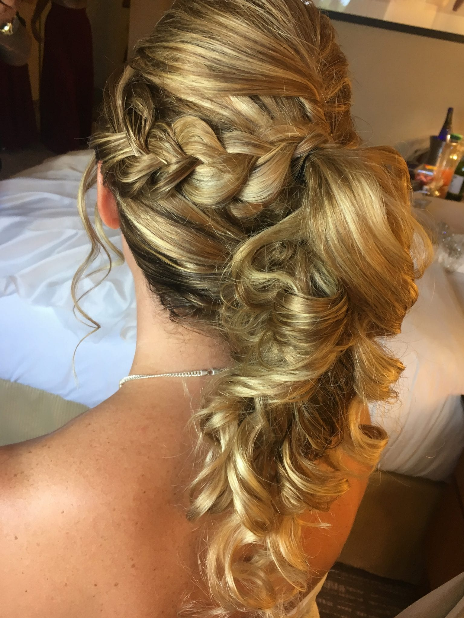Bridal Blonde Braided Pony