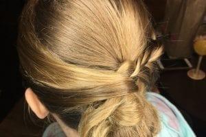 Braided Low Bun Dirty Blonde